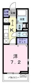 メゾンドルミエール2階Fの間取り画像