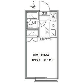 ビルデンス狛江A号館2階Fの間取り画像