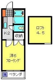 第5GMコーポ2階Fの間取り画像