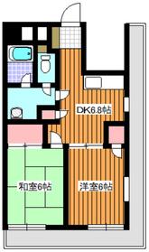 ピュアロイヤル6階Fの間取り画像