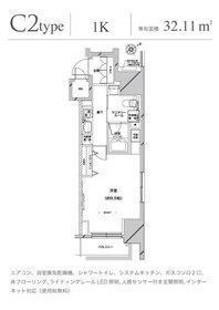 グランドコンシェルジュ六本木3階Fの間取り画像