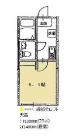 アンバー2階Fの間取り画像