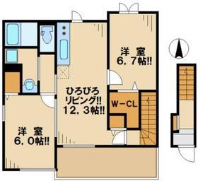 コーラル2階Fの間取り画像
