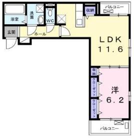 エアリーガーデンⅡ3階Fの間取り画像