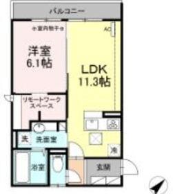 ハイム羽沢横浜国大 111階Fの間取り画像