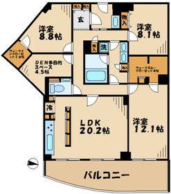 黒川駅 徒歩17分5階Fの間取り画像