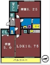 フォレストパーク2階Fの間取り画像