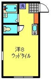 エクレール東白楽1階Fの間取り画像