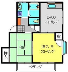 鶴ヶ峰駅 バス8分「八戸入口」徒歩5分1階Fの間取り画像