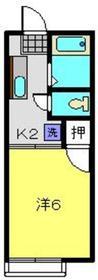レジデンスコーエイ2階Fの間取り画像
