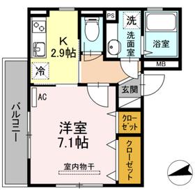 カトル・セゾン2階Fの間取り画像