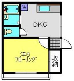 司ハイム2階Fの間取り画像