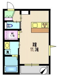 二子玉川駅 徒歩18分1階Fの間取り画像