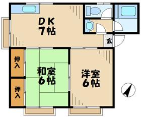 ハイム桜ヶ丘2階Fの間取り画像