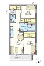 ヘーベルVillage 新桜台1階Fの間取り画像