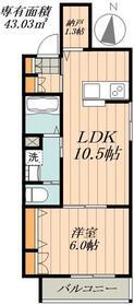 仮称 松島3丁目メゾン2階Fの間取り画像