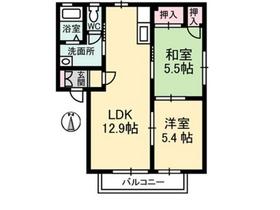 メゾンド・ボヌール2階Fの間取り画像