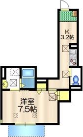 サザン スクエア1階Fの間取り画像