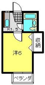 ハイツK6釜台2階Fの間取り画像