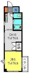 センチュリー日吉3階Fの間取り画像