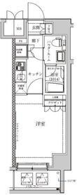 セジョリ横浜鶴見Ⅱ7階Fの間取り画像