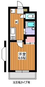 プレジール7階Fの間取り画像