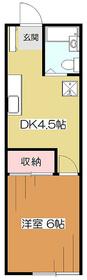 ピースハイツ久米川2階Fの間取り画像
