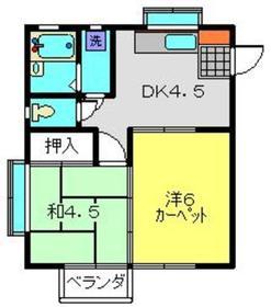 平間駅 徒歩22分1階Fの間取り画像