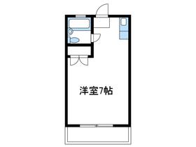 コーポリヨン2階Fの間取り画像