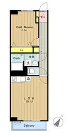 サンフィールドⅡ1階Fの間取り画像