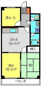 和田町駅 徒歩6分2階Fの間取り画像