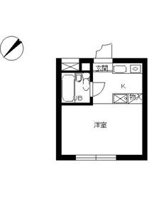 スカイコート立川第21階Fの間取り画像
