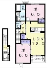 マックスシティ Ⅲ2階Fの間取り画像