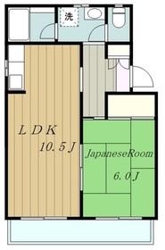 メゾンドK麻溝台3階Fの間取り画像