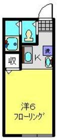 K・ドミール2階Fの間取り画像