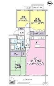 東急ドエルアルス弦巻3号棟4階Fの間取り画像