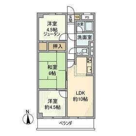 エクセレントハイツ川崎第52階Fの間取り画像