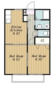 本厚木駅 バス10分「戸室」徒歩3分1階Fの間取り画像