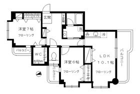ガーデンフォート目黒2階Fの間取り画像