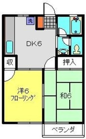 ハイムケンショウ32階Fの間取り画像