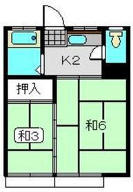 萩赤門ビル4階Fの間取り画像