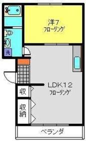 飯島マンション2階Fの間取り画像