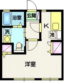 メイプルコート1階Fの間取り画像