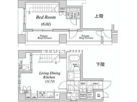 レジディア神田12階Fの間取り画像
