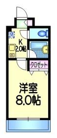 エレガンスタカハシ3階Fの間取り画像