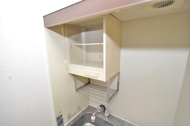 アリーヴェデルチ小阪 キッチン棚も付いていて食器収納も困りませんね。