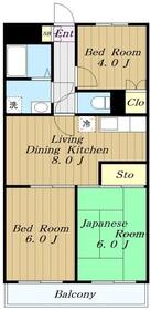 メゾンベール(奈良1)1階Fの間取り画像
