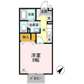 アネックスⅡ2階Fの間取り画像