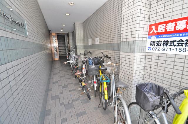 MAISON YAMATO 駐輪場が敷地内にあります。愛車を安心して置いておけますね。