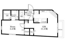ハーミットクラブハウスwing子安2階Fの間取り画像